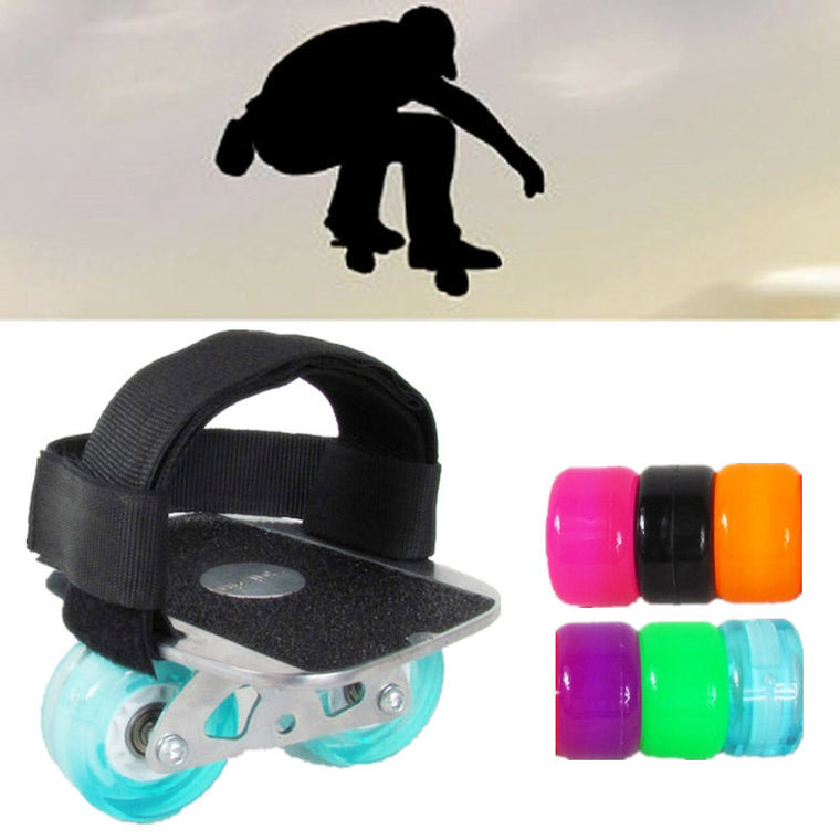 Extreme Driftboard with Foot Bandage for Jump Down Fall Drift Board, Durable Elastic PU Grip Wheel for Freeline Player