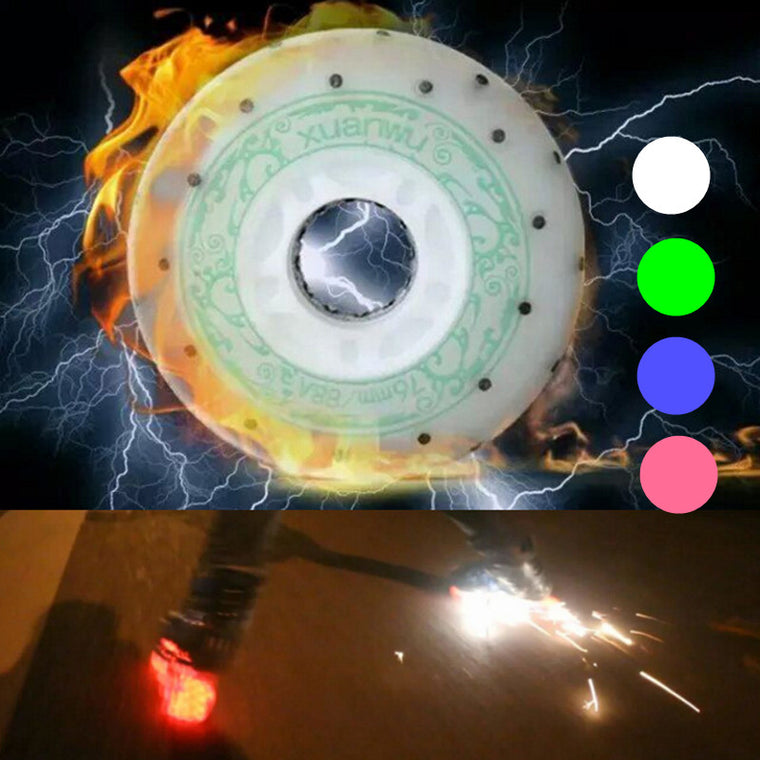 88A LED Flash Firestone Spark Skating Wheel,  52 104 208 Flints Inline Skate Wheels, Big Fire Than 90A Wheel