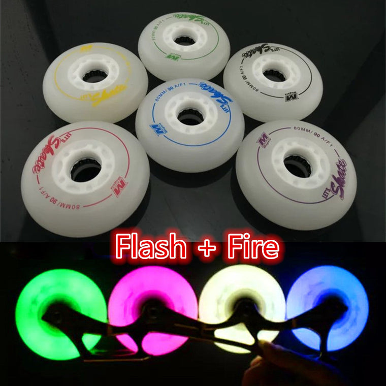 New Arrival! High Quality Frosted Surface Durable Original Megala F1 90A Inline Skates LED Flash Slide Wheel Good as MATTER
