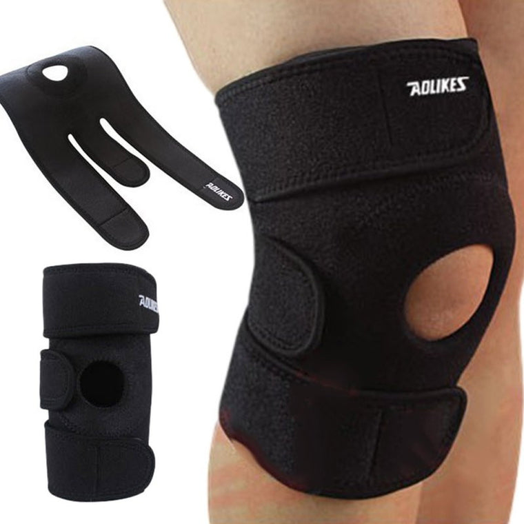 Mountaineering Basketball Cycling Black Adjustable Knee Patella Ultra-thin breathable Fabric Sports kneepad