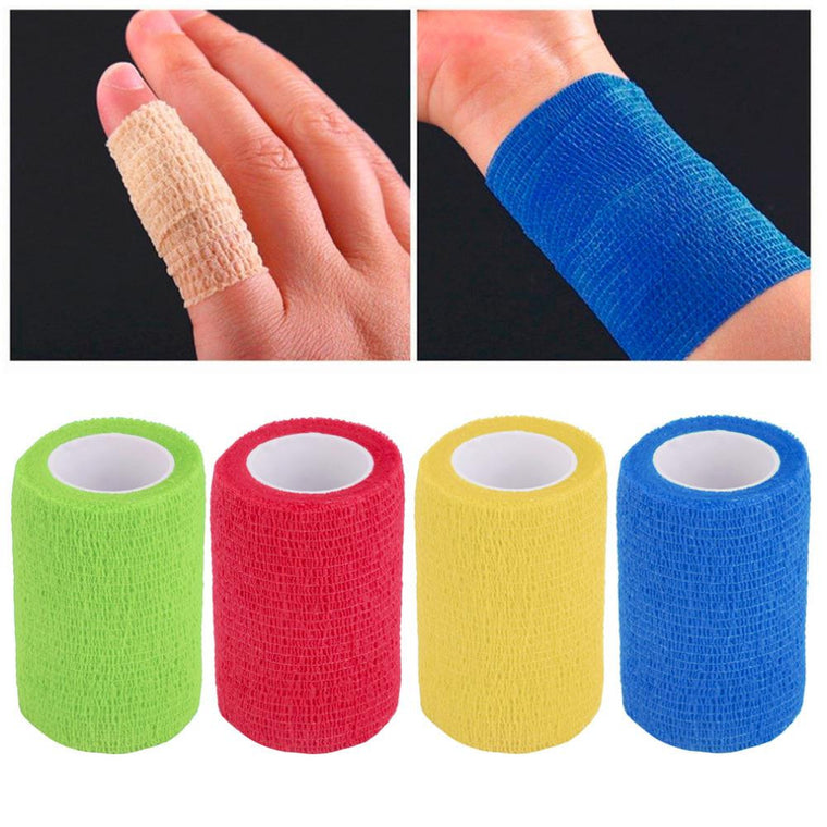 Self-Adhering Bandage Wraps Elastic Adhesive First Aid Tape4.5m x 7.5cm free shipping