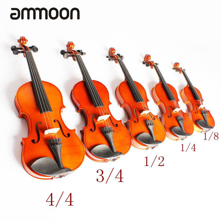 High Quality 1/8 Violin Fiddle Basswood Body Steel String Arbor Bow Stringed Instrument Musical Toy for Kids Beginners