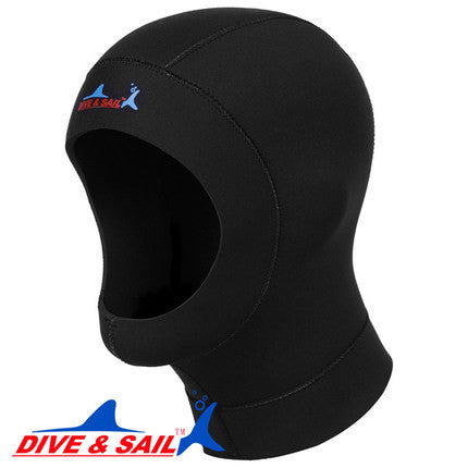 Ultrathin 1mm neoprene scuba dive cap hood equipment Snorkeling hat Underwater deep keeping warm tie the hair heat preservation
