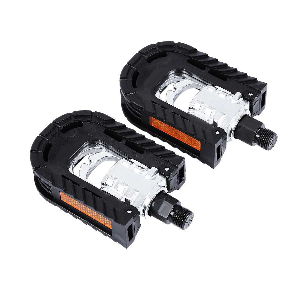 2PCS Ultralight Bike Bicycle Pedals MTB Aluminum Alloy Bearing Non-slip Folding Black Pedals Bike Accessories Parts