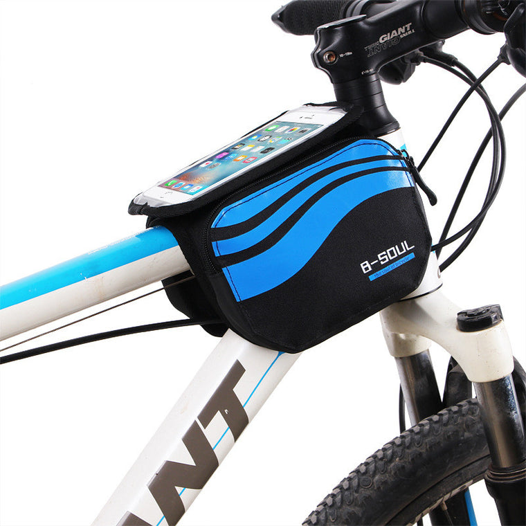 Bicycle Front Touch Screen Phone Bag MTB Road Bike Cycling Mobile Bag Cycle Front Bag 5.7 inch Cellphone Bag Bicycle Accessories