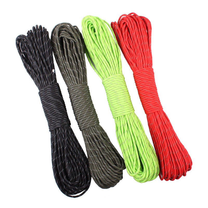 12 Colors Reflective Paracord 550lb 7 Strand 100FT Survival 7strand PARACHUTE 7Strand 100FT Climbing Camping survival equipment