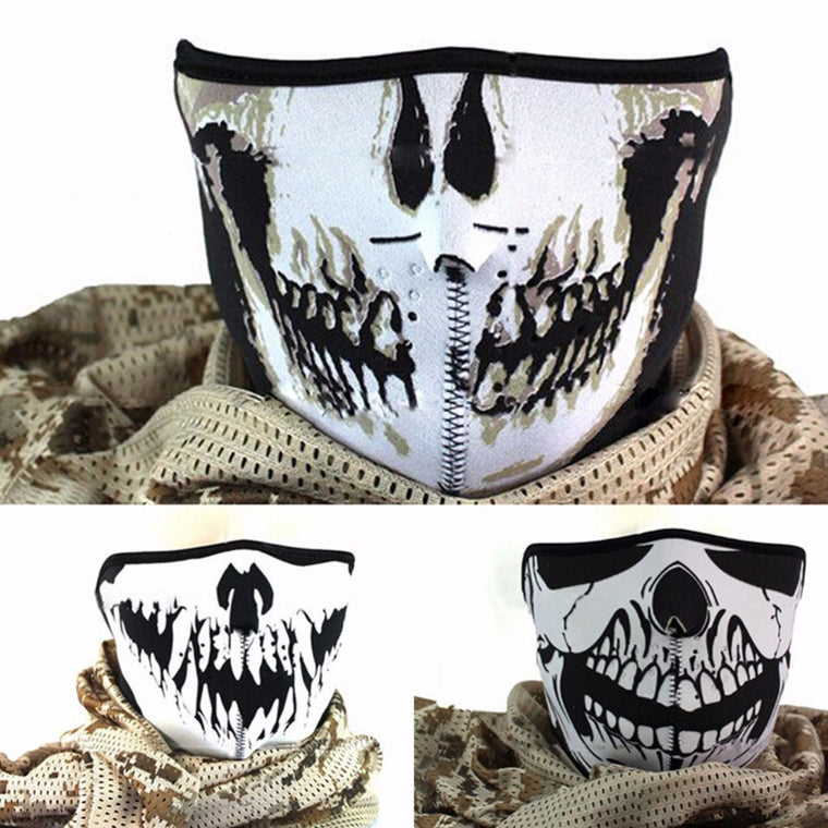Skull Neoprene Half Face Mouth Mask Ski Snowboard Motorcycle Biker Sport Protection 3 Styles 1 Pc Masks
