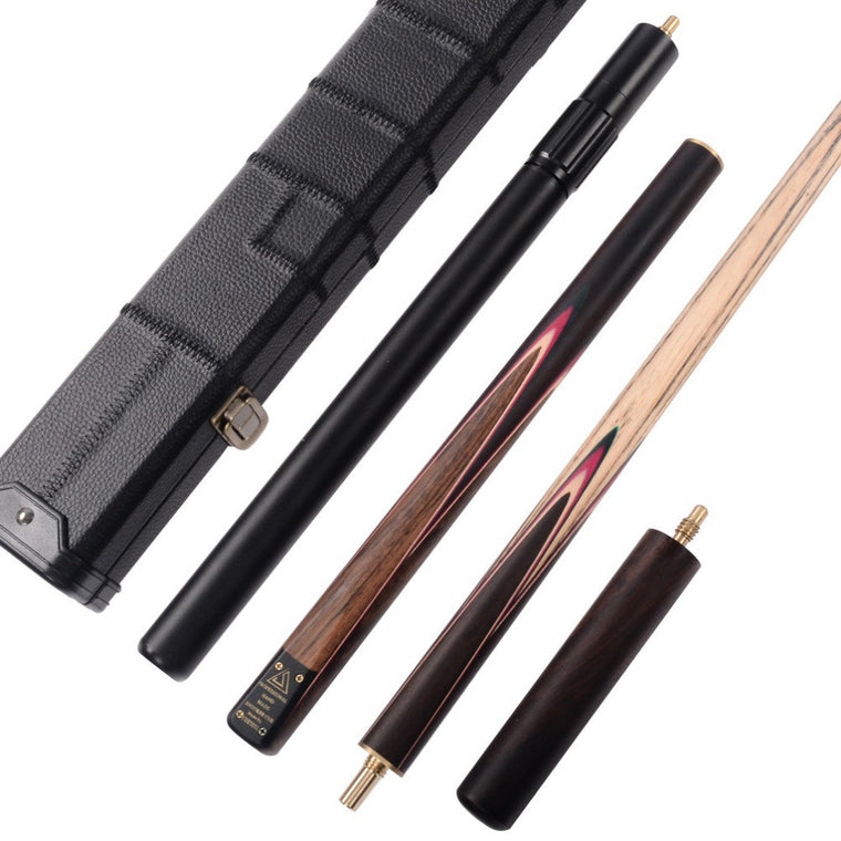 Classic Handmade 57 Inch Rosewood 3/4 Piece Snooker Cue +Black Cue Case and Cue Extension