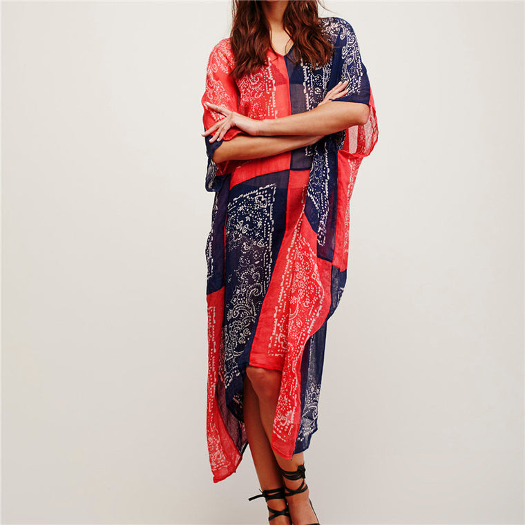 New Arrivals Beach Cover up Chiffon Swimwear Ladies Kaftan Beach Tunic Robe De Plage Bathing Suit Coverups Saida de Praia  #Q115