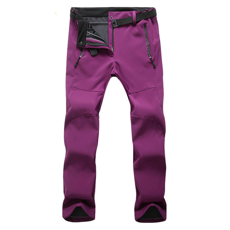Women Hiking Outdoor Pants Thermal Pant Waterproof Fleece Termico Mujer Camping Climbing Pant Ski Fishing Pants for Women