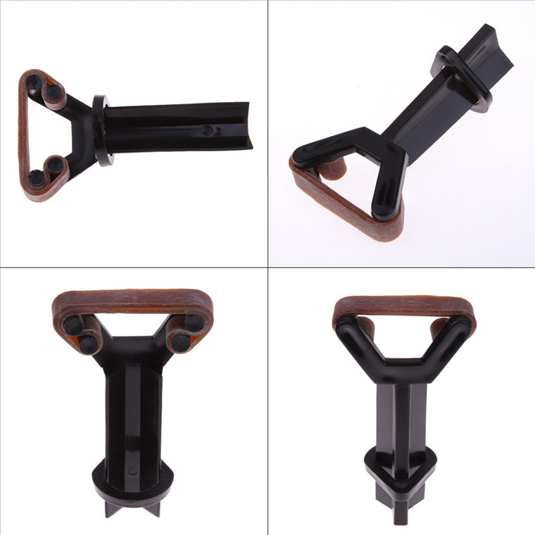 Strong Elastic Snooker Billiard Plastic Pool Cue Tip Clamp for Tip Glue on Fastener Repair Compatible Pool Cue Tip Holder