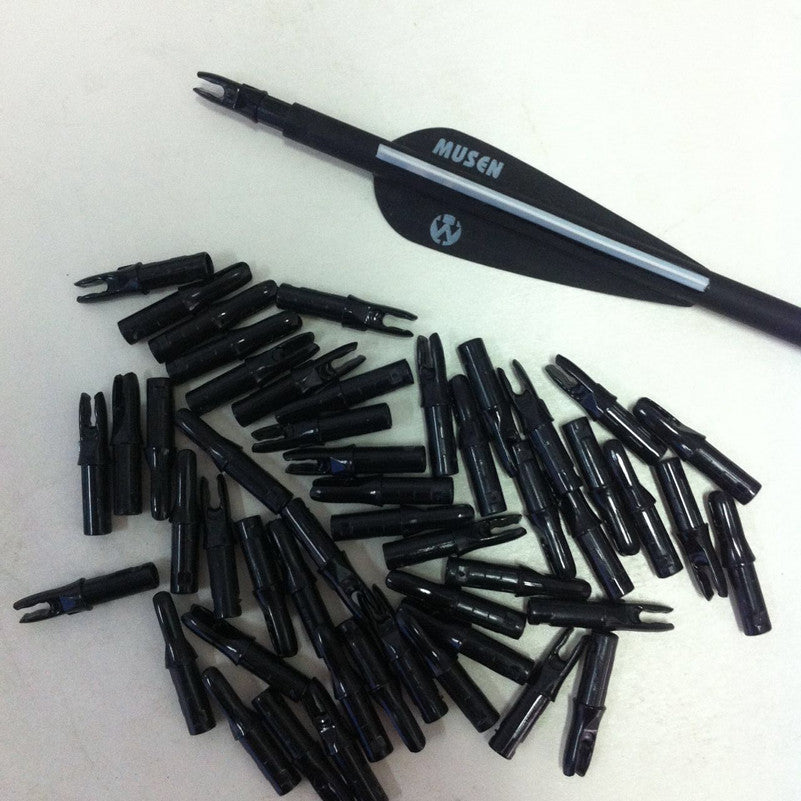 50pcs/lot Black color Arrow Nocks For Arrow Shaft ID 6.2mm OD 7.6mm Archery Carbon Fiberglass Nocks Free   Shippingping
