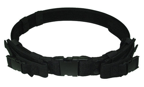 Waist Support Military Belts Canvas Tactical Outdoor Waistband Adjustable Hunting Survival Tactical Belt with 2 Pouches