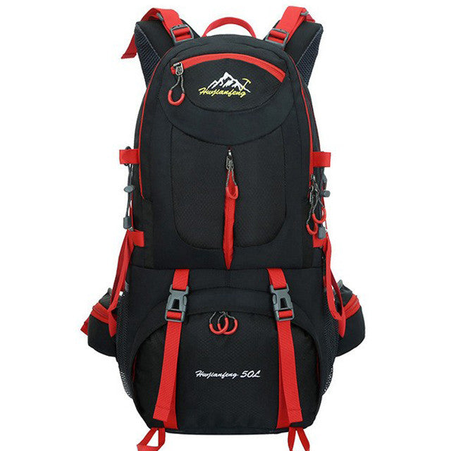 professional Outdoor Backpack sports bag Hiking Cycling Bag50L Waterproof Travel climbing Backpack Big Load Knapsack Rucksack