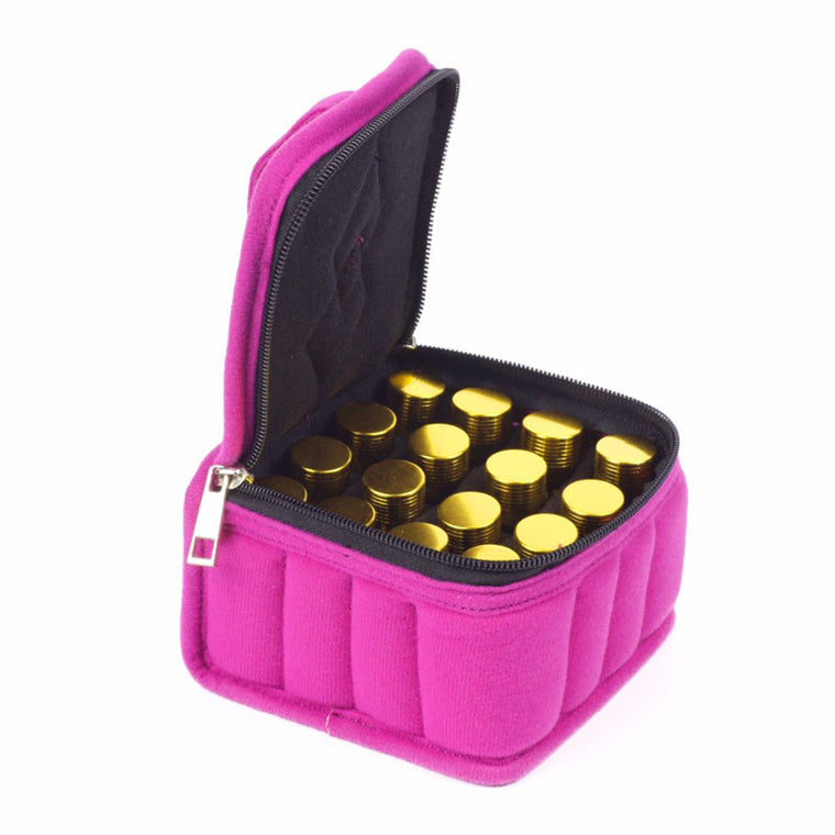 16 Lattices Cosmetic Bags 5/10 /15ML Essential Oils Bag Zipper Oil Carrying Case Cosmetic Storage Box Make Up Bags RD877420
