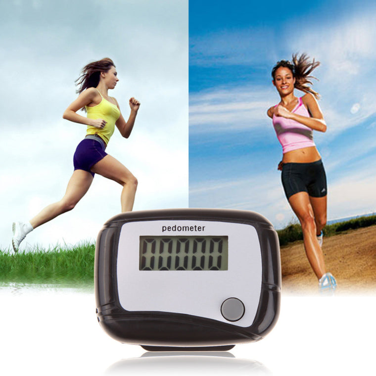 Digital LCD Display Pedometer Design Fitness Run Step Walking Distance Calorie Counter Free Shipping