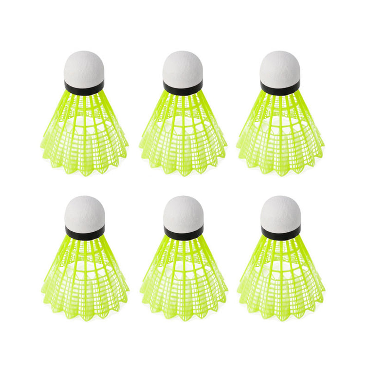 6 Pcs/Set Durable Training Train Gym Fitness Nylon Shuttlecocks Badminton Ball Sport