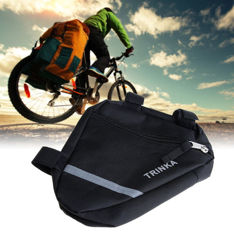 Cycling Bike Front Tube Waterproof Triangle Bag Durable Bicycle Frame Pouch Saddle Bag US#V