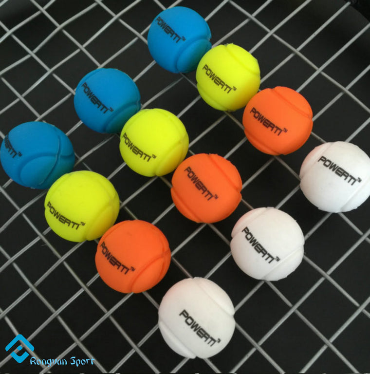 8 pcs/pack - Brand New POWERTI Ball Shape tennis racket vibration dampener shock/tennis damper