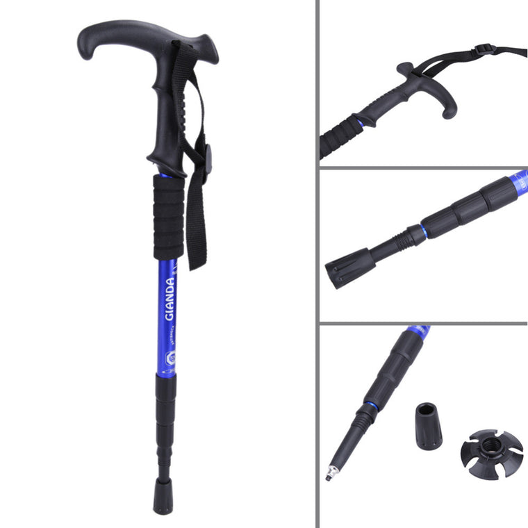 Walking Sticks Ultralight 4-section Adjustable Canes For Climbing Hiking Walking Trekking Trail Poles Outdoor Products