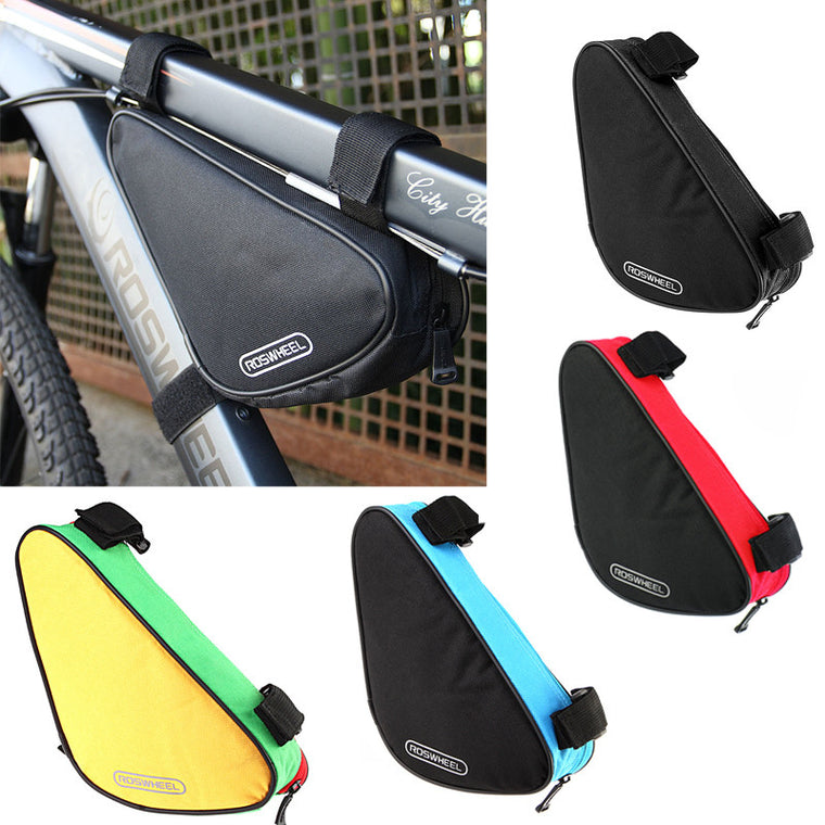 Roswheel 4 Colors Waterproof 1.5L Outdoor Triangle Cycling Bicycle Front Tube Frame Bag Mountain Bike Pouch