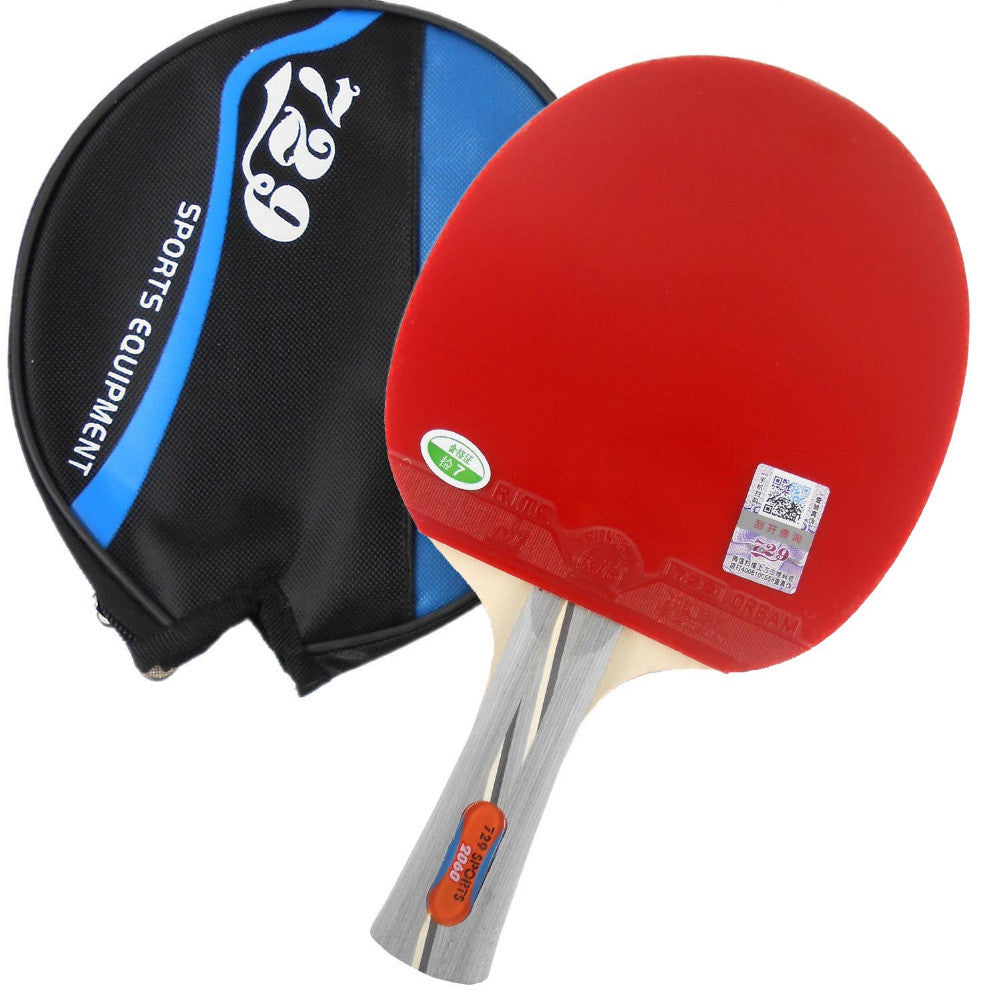 Pips-in table tennis pingpong racket + a bat case