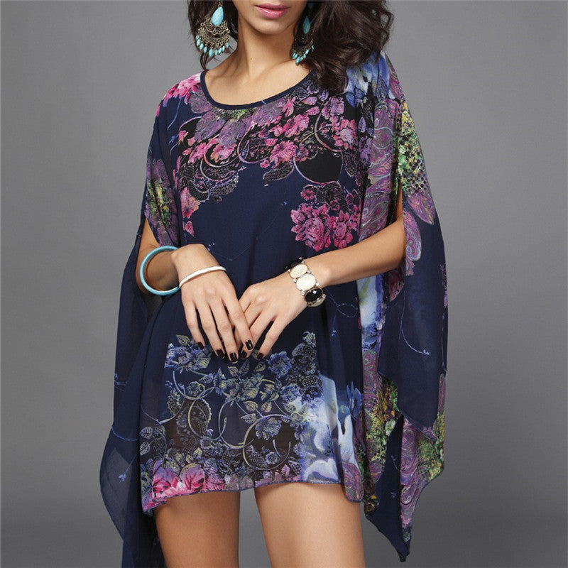 0fc2d42758571 New Arrivals Beach Cover up Floral Romantic Swimwear Ladies Pareo Beach  Cape Sun Bath Beach Wear ...