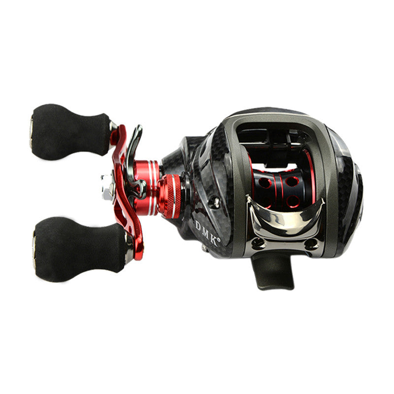 Wholesale Price 12BB 6.3:1 left Hand Baitcasting Fishing Reel Bait Casting Reels Red H1E1