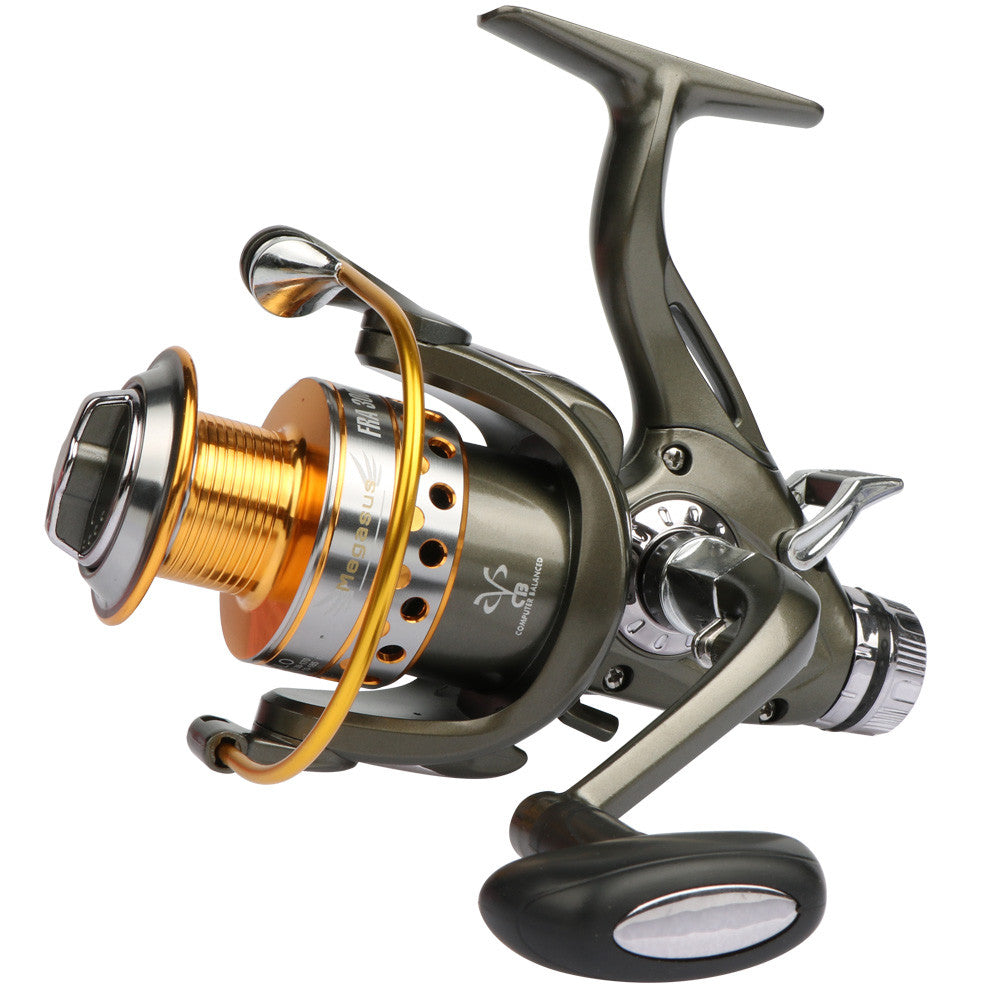 Goture Double Brake System Spinning Fishing Reel 5.2:1 10BB Carp Feeder Fishing Wheel Size 3000 4000 5000 6000 Max Drag 20kg