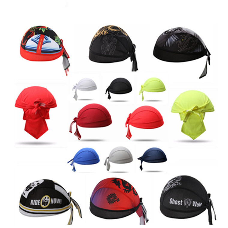 Bicycle Pirate Polyester Cycling Cap sunscreen UV protection wicking breathable Quick Dry Headscarf Riding Durable Bike Headband