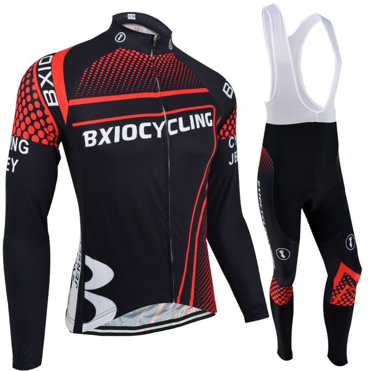 BXIO Brand Winter Thermal Fleece Cycling Clothing Sets Pro Team Bike Downhill Jersey Skinsuit MTB Sport Wear Roupas De Ciclismo