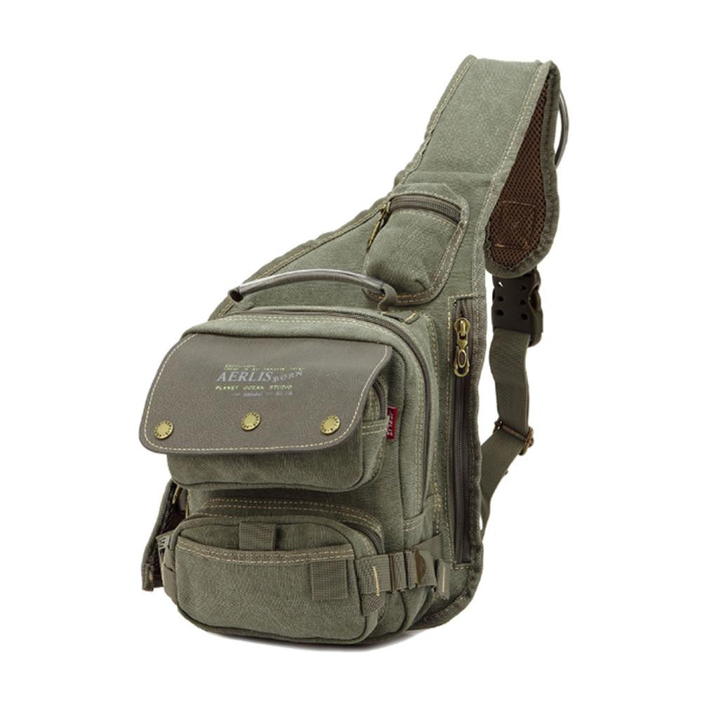 dd74dcd2cf7d ... Men Canvas Military Travel Riding Motorcycle Cross Body Messenger  Shoulder Back pack Sling Chest Bag
