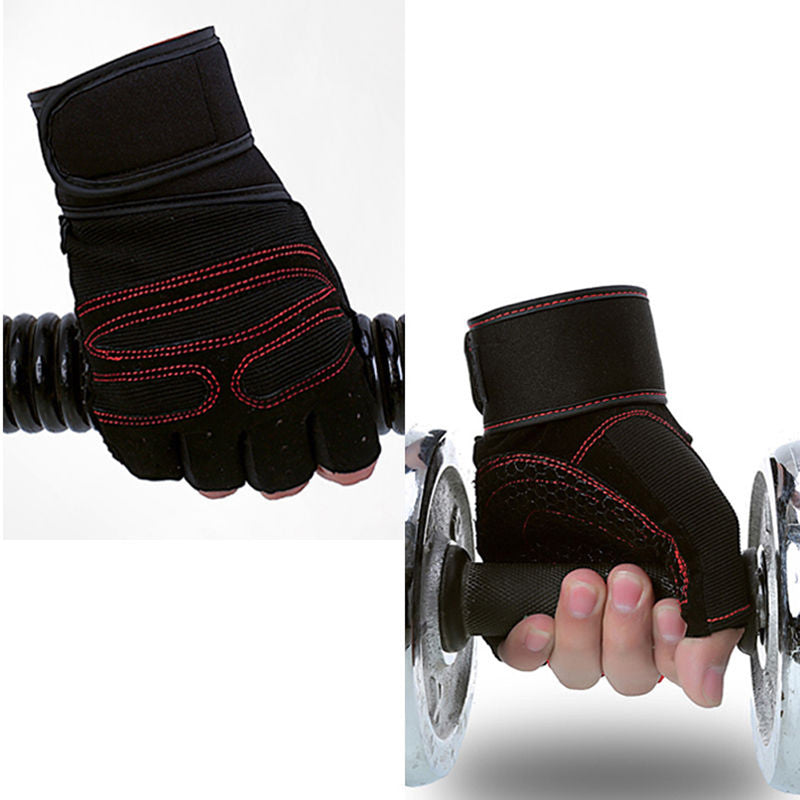 New Weight Lifting Gym Gloves Workout Wrist WrapSports ExerciseTraining Fitness Gloves EA14