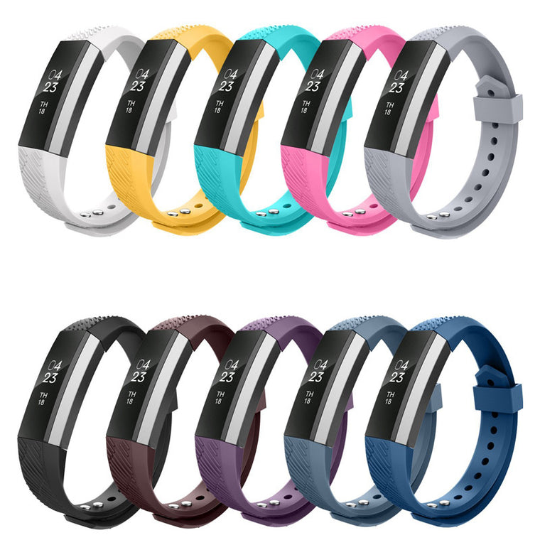High Quality Soft Silicone Fitbit Alta Watch Metal Bands Wristband Bracelet Replacement Accessories with Secure Adjustable Strap