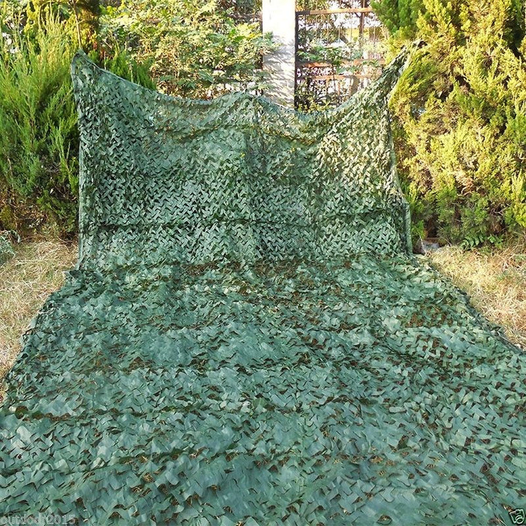 2.5M*6M filet Camo Netting Green Digital camouflage netting for outdoor sun shelter sniper paintball game war game hunting