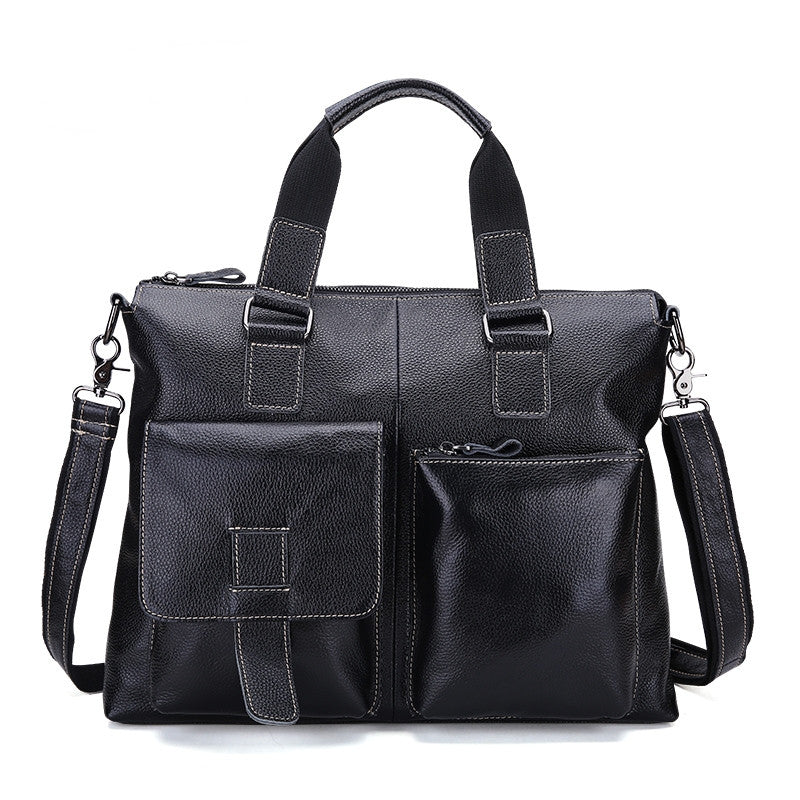 Vintage Genuine leather men's bag briefcase Retro messenger laptop bag handbag men travel bags high quality Shoulder bag