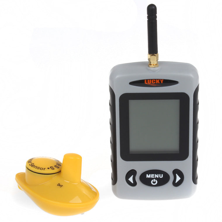 Free Shipping!Lucky FFW718 Wireless Portable Fish Finder 40M/120FT Sonar Depth Sounder Alarm Ocean River Lake