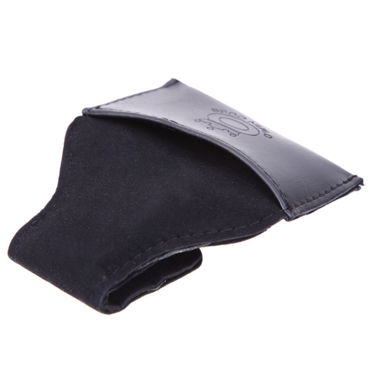 1pc Black Faux PU Snooker & Billiard Chalk Holder Pouch with Clip Pool Billiards Accessories