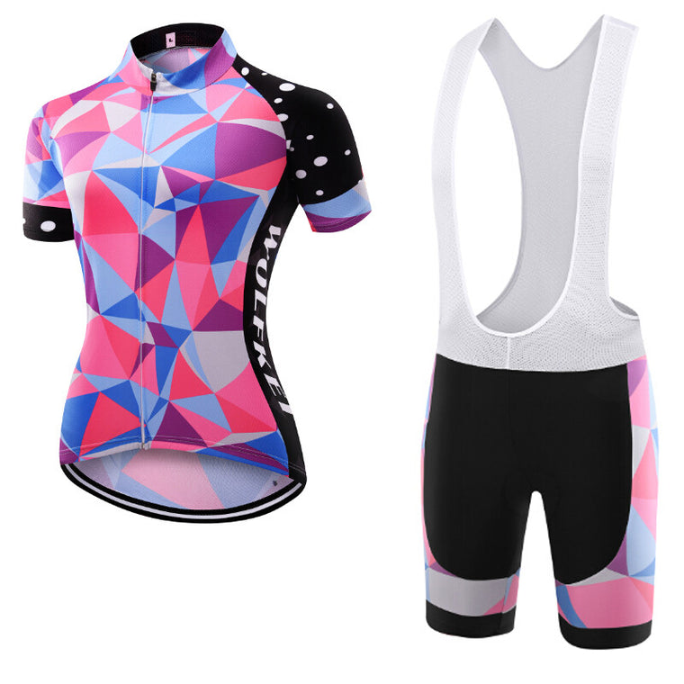 Wolfkei So Cool New Style Ropa Ciclismo Cycling Jersey/Breathable Bicycle Cycling Clothing/Quick-Dry Bike Sportswear women