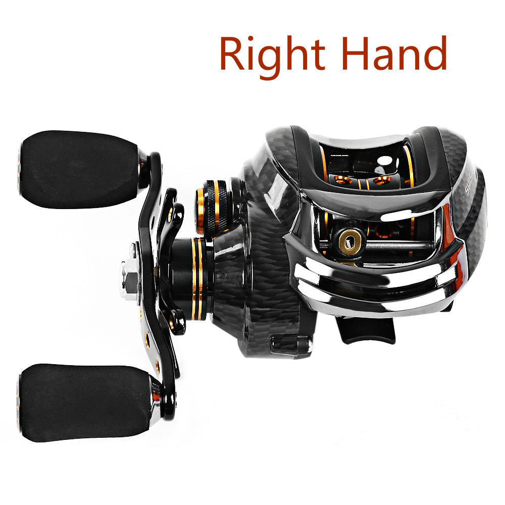 Shishamo Left Right Hand Fishing Reel LB200 Fishing Bait Casting Reel Durable Baitcaster Coil Fishing Reel With One Way Clutch