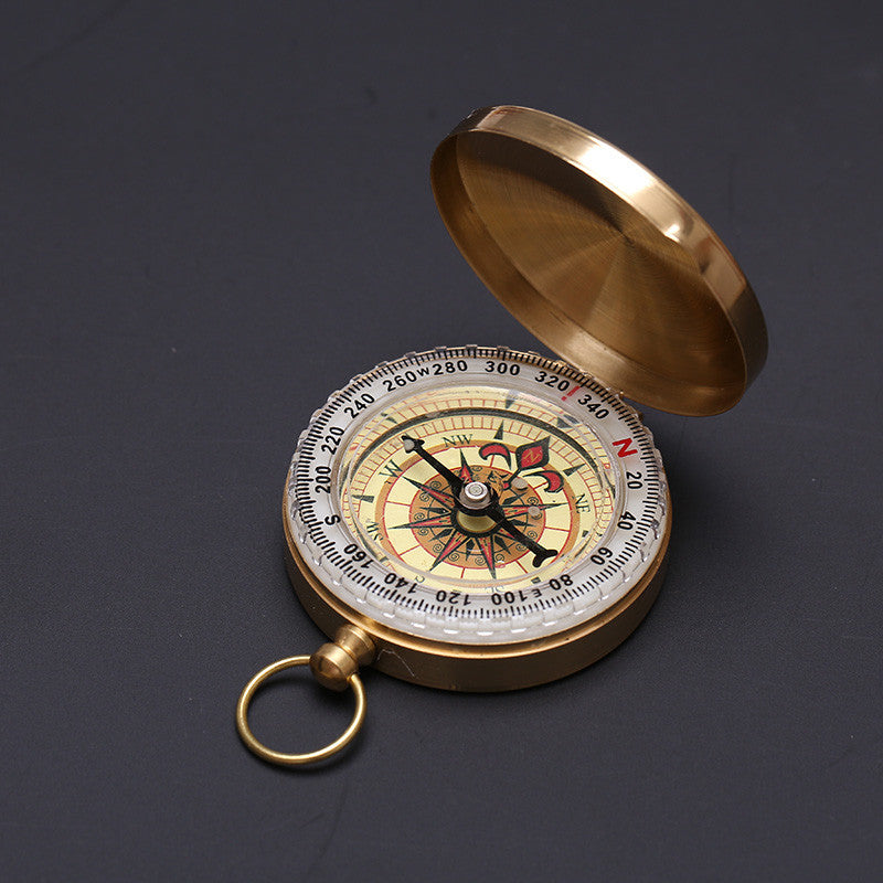 Noctilucence Display Outdoor Pocket Brass Compass Camping Portable Navigation UK