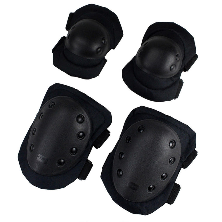 4 Pcs/Lot Elbow & Knee Pads Skating Climbing Snowboard Basketball Knee Pads Sports Safety Tactical Elbow Knee Support Kneepad