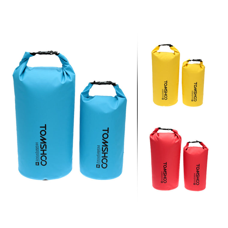 TOMSHOO 10L/20L Outdoor Water-Resistant Dry Bag Sack Storage Bag + waterproof phone case for Travelling Camping Snowboarding