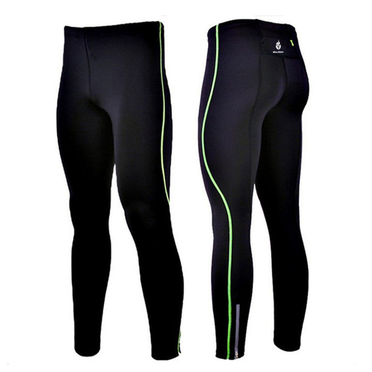 WOLFBIKE Men's Compression Tights Tight Base Layer Skins Running Run Fitness Excercise Cycling Clothing Bicycle Bike Pants Gear