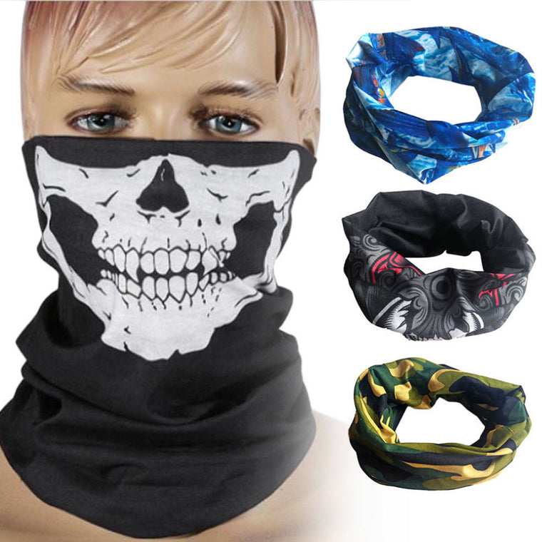 Skull Mask Skeleton Balaclava Ghost Tactical Motorcycle Breathable Outdoor Sports Ski Cycling UV Protect Skull Face Mask