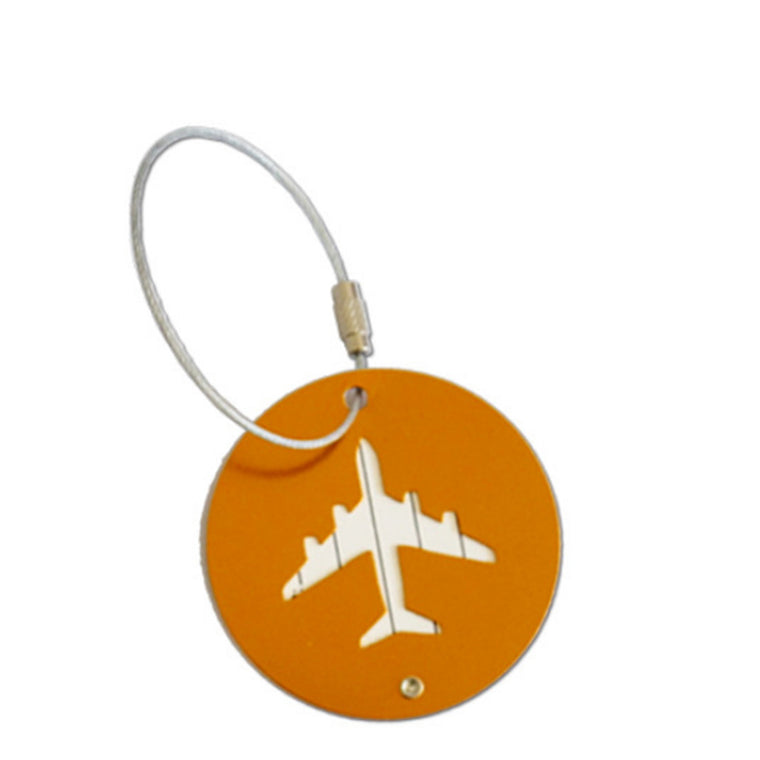 Round Aluminium Alloy Luggage Tages Travel Accessories Baggage Name Tags Suitcase Address Lable Holder ID Strap Gift