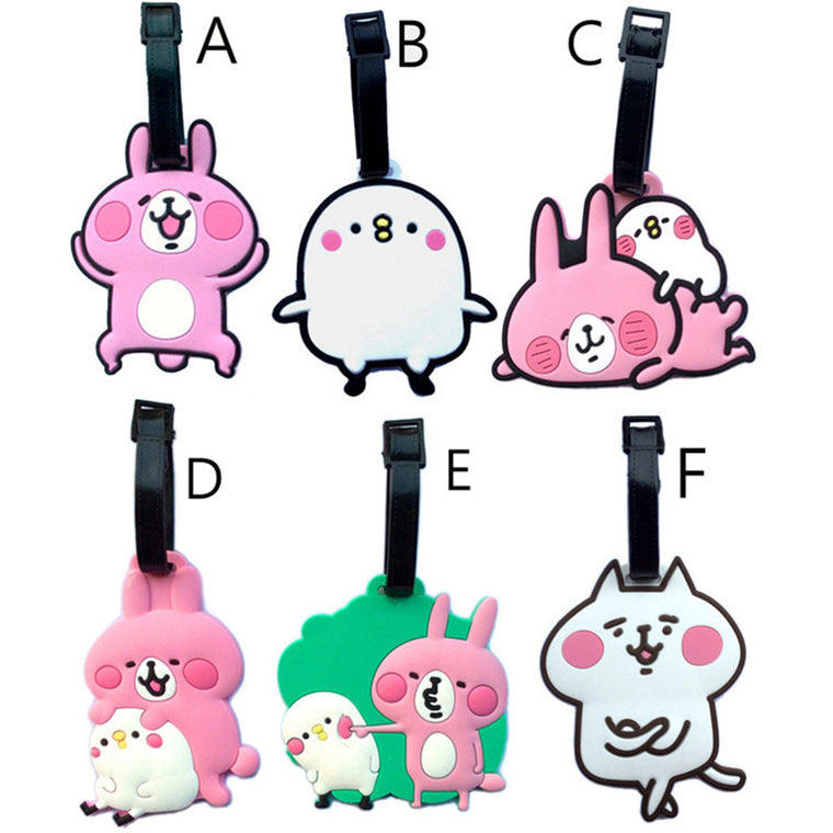 New Japan Kanahei Cartoon Silicone Luggage Tags Travel Accessories Suitcase Label ID/Address PVC Baggage Labels Boarding Tag