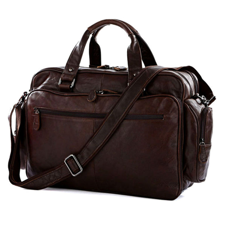 100% Genuine Leather Men Travel Bags Luggage Travel Bag Leather Men Duffle  Bags Shoulder Big 0bfab112a66e9