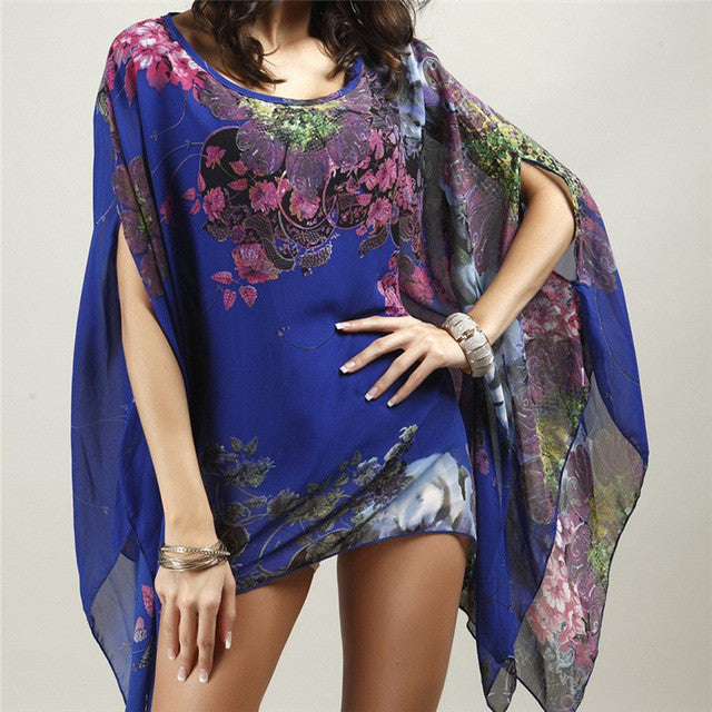 933f4fb4b4132 ... New Arrivals Beach Cover up Floral Romantic Swimwear Ladies Pareo Beach  Cape Sun Bath Beach Wear ...