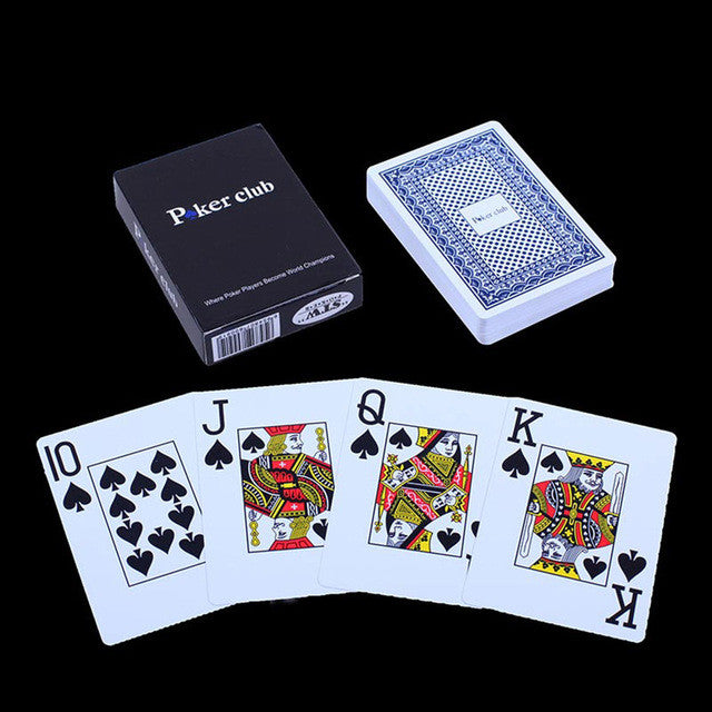 2 Colors POKER CLUB Texas Playing Cards Game Plastic Poker Waterproof UNO Card Board games with Big Words
